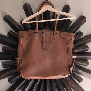 Large J. crew leather tote